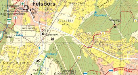 Felsőörs és környéke 1 : 35 000